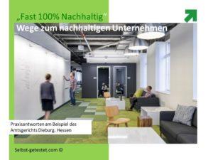 Grüner Erlebnisvortrag Nachhaltiges Unternehmen